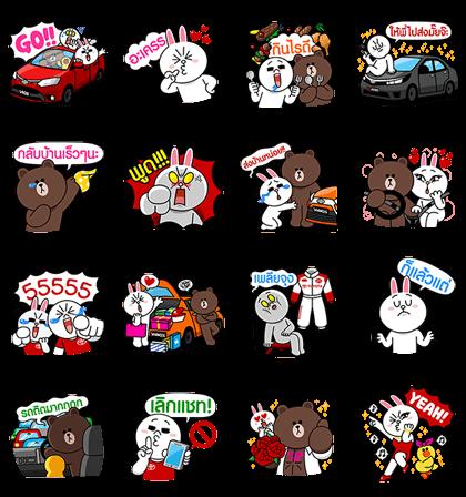 line sticker3305